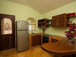 Casita kitchen with gas range