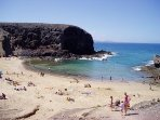 One of the 5 amazing Papagayo beaches. €3 car entry fee and 10 minute drive away or free to walk to.