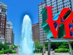 Steps away from Love Park