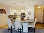 Large Breakfast Bar w Seating for 4 Guests