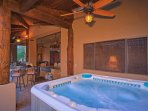 Jetted Hot Tub - Under the back patio