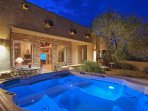 Jetted Hot Tub - Under The Stars in the front courtyard with amazing views