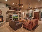 Great Room - 75' High Def TV with Theater Like Surround Sound