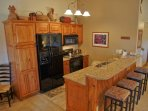 Updated kitchen with granite counters, new cabinets and appliances