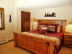 Bedroom 1 features a King bed, vaulted ceilings,HDTV, and ski area views
