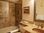 Nicely updated bathroom adjacent to Bedroom 3