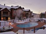 1 of the 4 Heated Pools and 2 of the 11 Hot Tubs are only about 30 feet from your patio