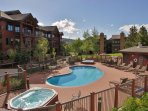 1 of the 4 pools is right off your patio