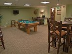 Pool Table and Business Center in the clubhouse