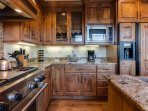 Gourmet kitchen with Wolf Gas Range/Stove with built in Griddle