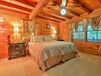 Settle into the spacious master bedroom and rest for the next day.