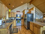 The fully equipped kitchen has everything you'll need to whip up a tasty meal.