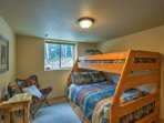 The third bedroom has a twin-over-full bunk bed and a pull-out trundle twin bed, great for kids!