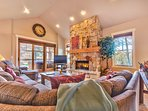 Living Room with HD TV/DVD, Fireplace, Queen Sofa Sleeper and Deck Access with Hot Tub