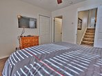 5th Bedroom with Queen Bed, 48' TV, DVD Player, and Private Bath with Tub/Shower