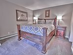 4th Bedroom with Queen Bed, Full Bath Access with Tub/Shower, and Back Deck Access with Private Hot Tub