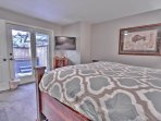 4th Bedroom with Queen Bed, 40' TV, Full Bath Access with Tub/Shower, and Deck Access with Private Hot Tub