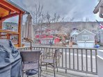 Deck off Upper Level with Seating, BBQ and Mountain Views