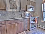Upper Level 2nd Fully Equipped Kitchen with Stainless Steel Appliances, including Electric range with Double Ovens, and...