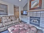 Upper Level 2nd Living Room with Comfortable Furnishings, Wood Fireplace, 48' TV and Sony Blu-Ray Player