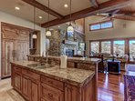 Kitchen Island with View to Living Room