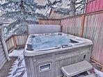 Back Deck Hot Tub at Park City Ultimate Estate
