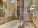Upper Level Master Private Bath with Tub and Shower