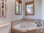 Master bathroom with Roman soaking tub