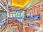 Gourmet Chef's Kitchen with Oversized Wolf Stove, Built-in Sub Zero Fridge, Twin Stainless Dishwashers