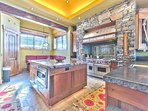 Gourmet Chef's Kitchen with Oversized Wolf Stove, Built-in Sub Zero Fridge, Twin Stainless Dishwashers and Breakfast...