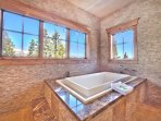 Master Bath Large Soaking Jacuzzi Tub