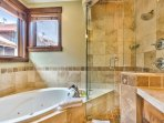 Master Bath with Dual Sinks, Jacuzzi Tub and Shower