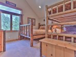 Bedroom 3 Bunk room with Queen Bed, Twin Bunk Bed, HD TV and Private Bath