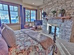 Grand Master Bedroom Suite with King Bed, Fireplace, TV/DVD and Private Bath