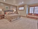 Lower Level Master Bedroom Suite with King Bed, HD TV and Private Bath