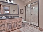 Lower Master Bedroom Suite Private Bath with Shower