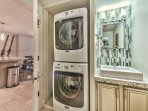 2nd Full Bath with Shower and Private Washer/Dryer