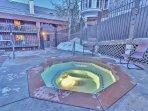 Heated pool and firepit at Snowblaze - Park City