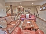 Lower Level Family Room with HD TV, Fireplace
