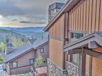 View of Lookout 2 - Deer Valley home facing back of house with 2 private decks overlooking the ski slopes and Main...