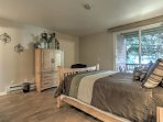 Master Bedroom with Queen Bed, TV, Patio Access and Private Bath