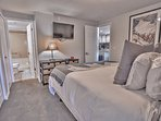 Master Bedroom with King Bed, LED TV and Private Bath