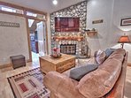Living room with small cub den, fireplace, and 60' Smart TV/DVD in Snowblaze 302 - Park City