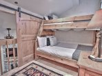 Upstairs bunk room with twin over full bunk bed in Snowblaze 302 - Park City