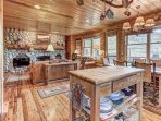 Fully Equipped Kitchen with Butcher-Block Island, Dining Area with Seating for 6, Private Deck with BBQ, Patio Seating...