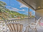 Beautiful Views of Historic Park City and Park City Mountain Resort from Private Deck on Main Level