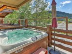 6-Person Hot Tub on Private Deck with Beautiful Views