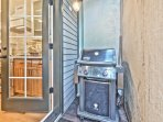 BBQ Grill on Private Deck off the Kitchen
