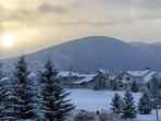 View from the private deck overlooking Park City ski slopes and Park Meadows Golf Course - Park City Tranquility - Park...