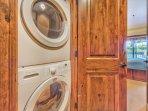 Laundry in Lower Level Hallway